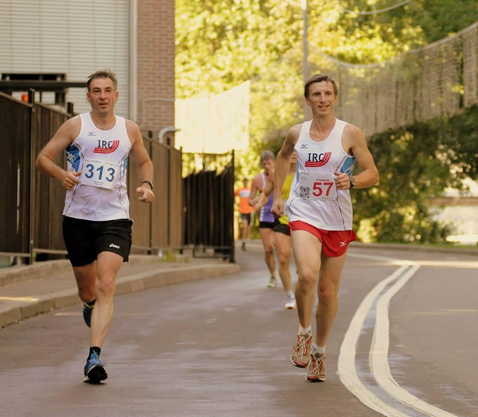бег на 3 км.